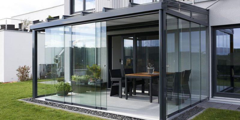 стеклянный зимний сад с помощью TS aluminium S16