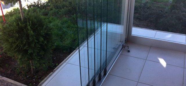 Раздвижные стеклянные двери в киеве, заказать изготовление с.