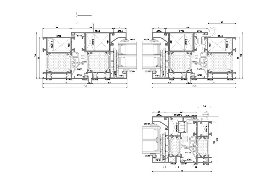 конструкция алюминиевых окон