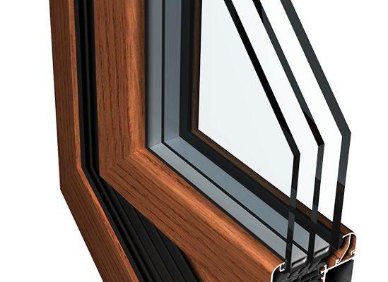 теплое окно из алюминиевого профиля Ponzio