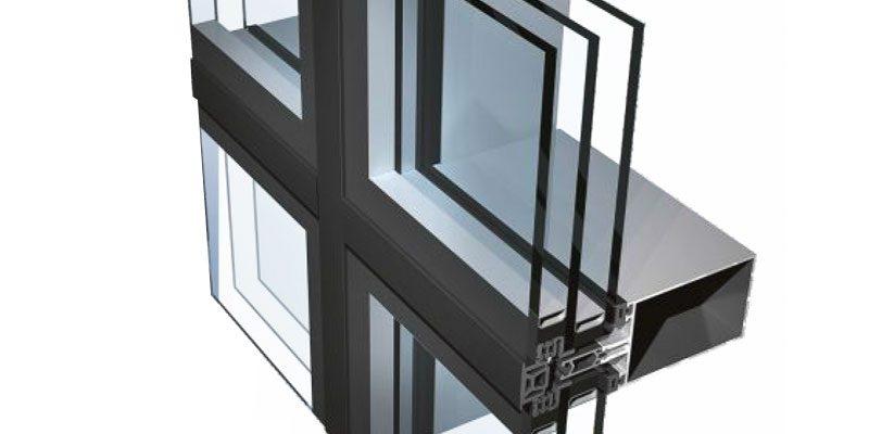 алюминиевый фасад зданий PONZIO PF 152ESG