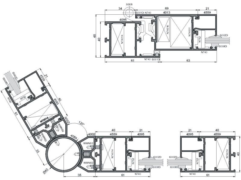 Изготовление алюминиевых окон Ponzio PE 40