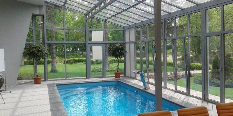крыша зимнего сада над бассейном