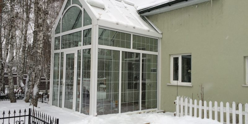 Монтаж алюминиевой конструкции зимнего сада