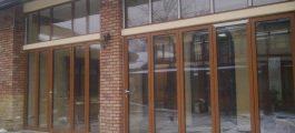 двери гармошка большие проемы