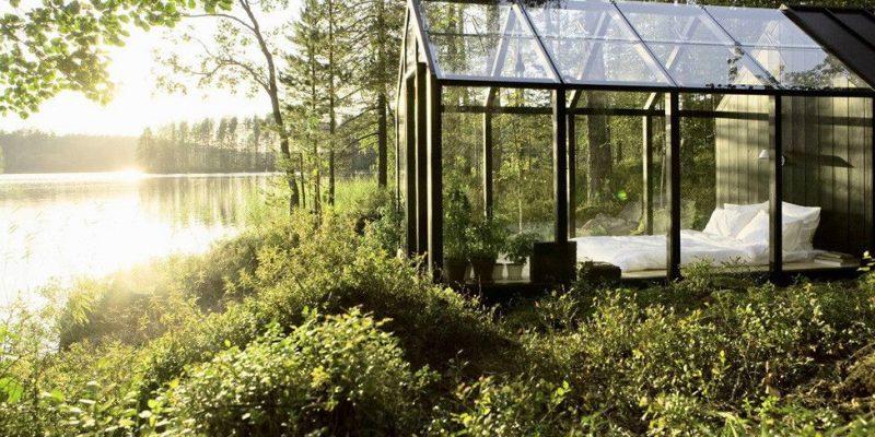 Лесной домик в виде зимнего сада