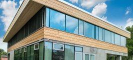 фасад из алюминиевых окон