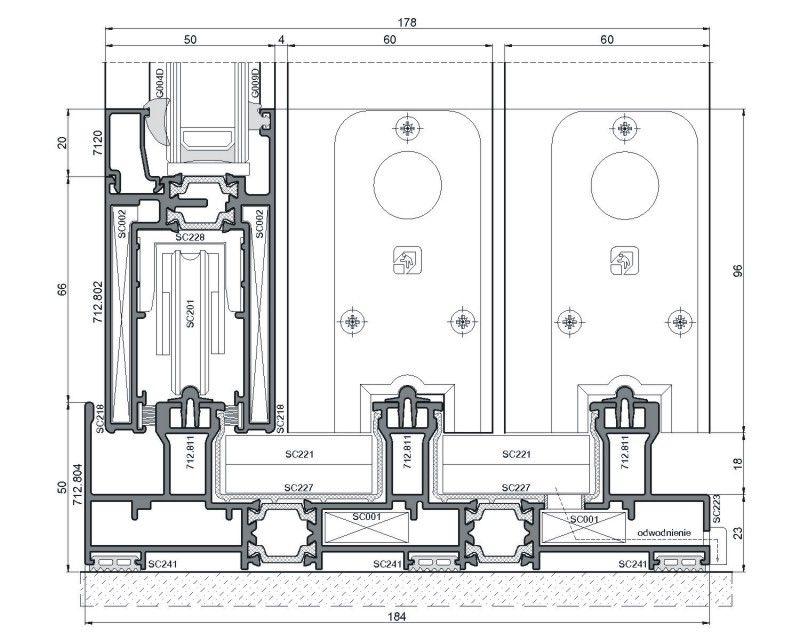 схема профиля для алюминиевых окон