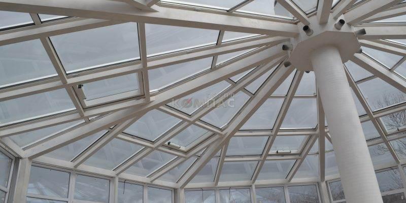 крыша зимнего сада оранжереи