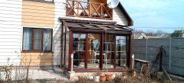 проекты коттеджей с зимним садом TS Aluminium