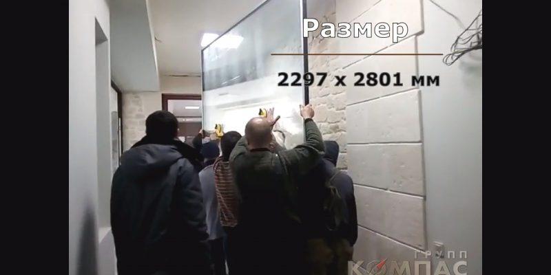 монтаж раздвижной двери видео