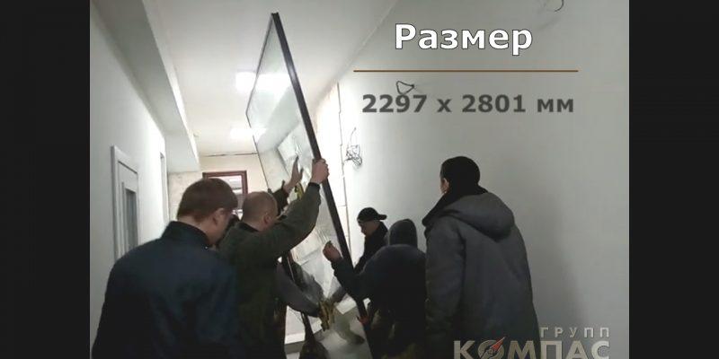монтаж сдвижной двери Hi-Finity в шоу-руме