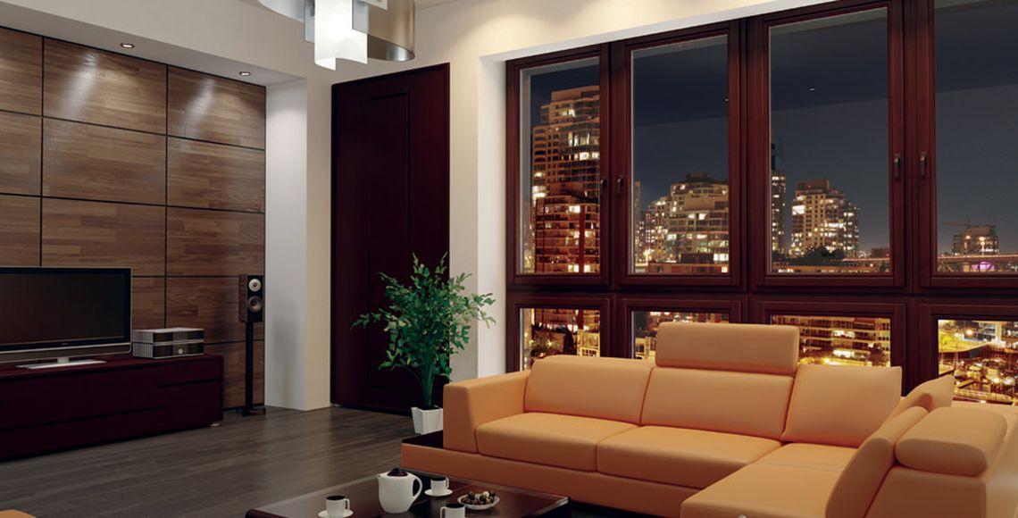 алюмо деревянные окна