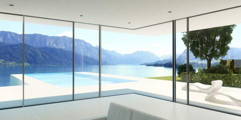 алюминиевые окна на террасу