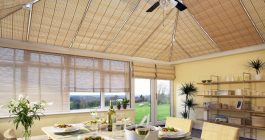 шторы для зинмего сада из бамбука