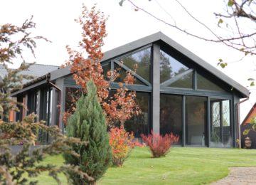 Остекление загородного дома вид 11